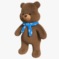 bear toy brown 3D model