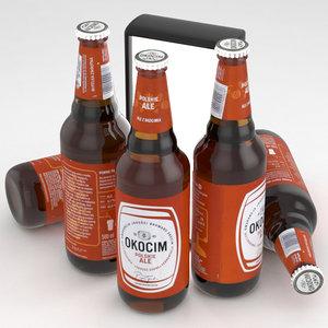 3D beer ale okocim model