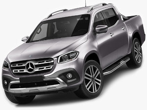 3D mercedes benz x-class model