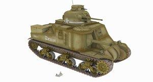 m3 lee tank 3D model