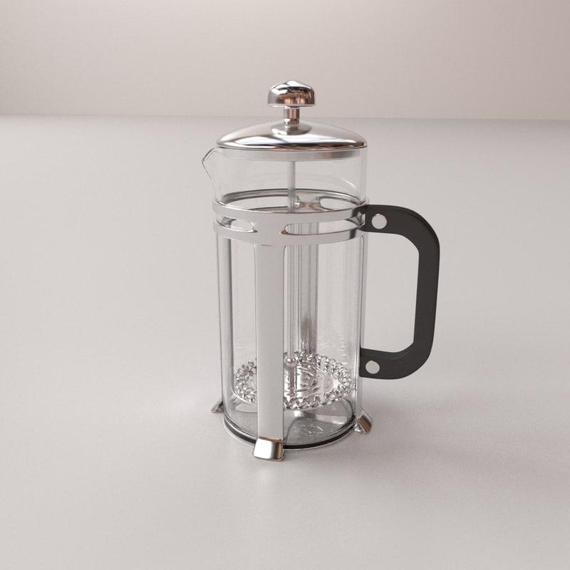 milk frother 3D model