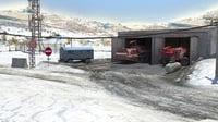 3D model snow environment russian