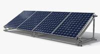 solar cell 3D model