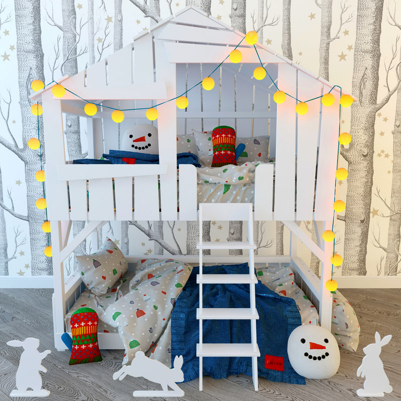 treehouse bed snow day model