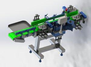 assembly line labeling machine 3D model