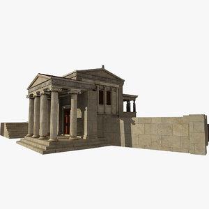 3D caryatids marble
