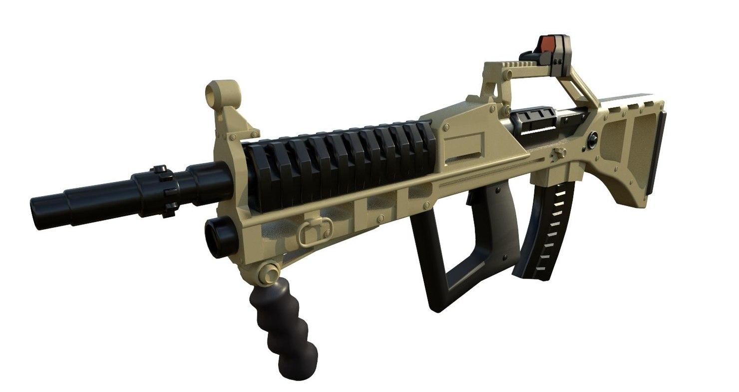 3D model tactical rifle