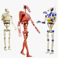 3D 8k battle droid