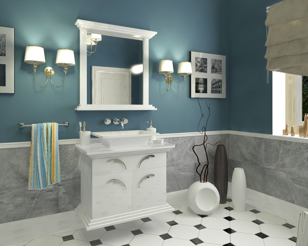 3D model furniture bathroom classical