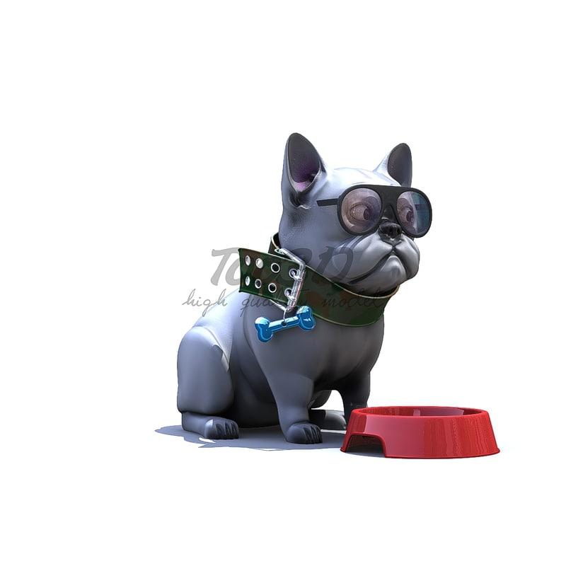3D pug bull model