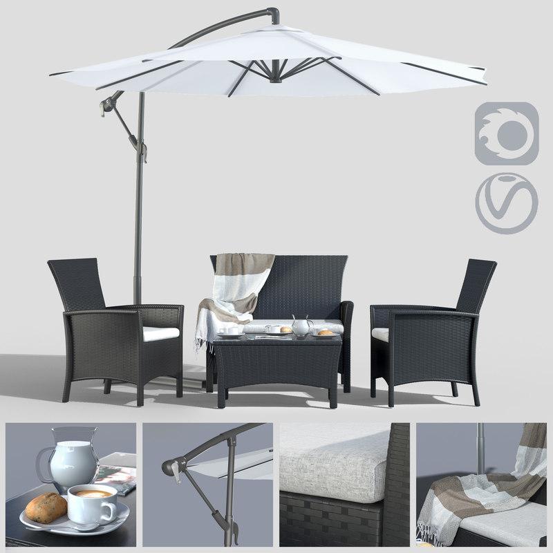 furniture polyotonga table umbrella model