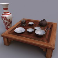 table chine 3D model