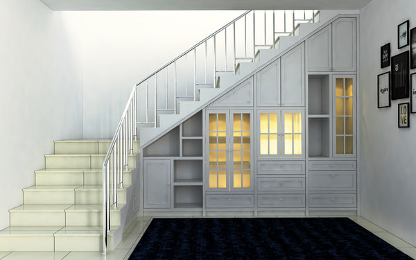 3D model stair storage sketchup