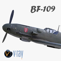 bf-109 german fighter modelled 3D model