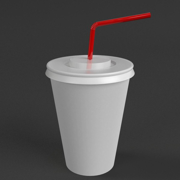 3D disposable paper cup straw