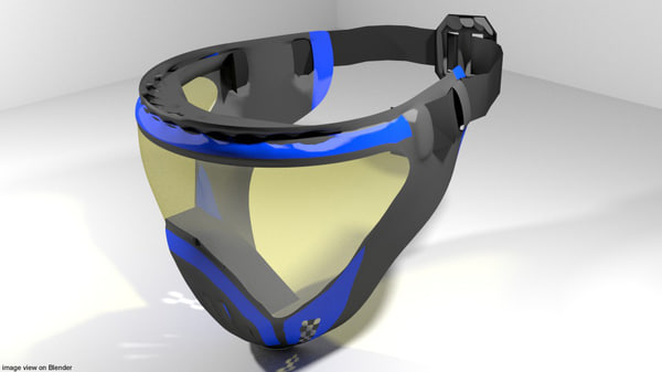 facemask mask paint 3D model