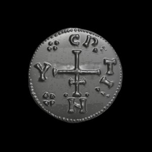 3D model coin viking