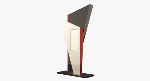 3D model kiosk info