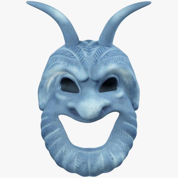 3D satyr mask model