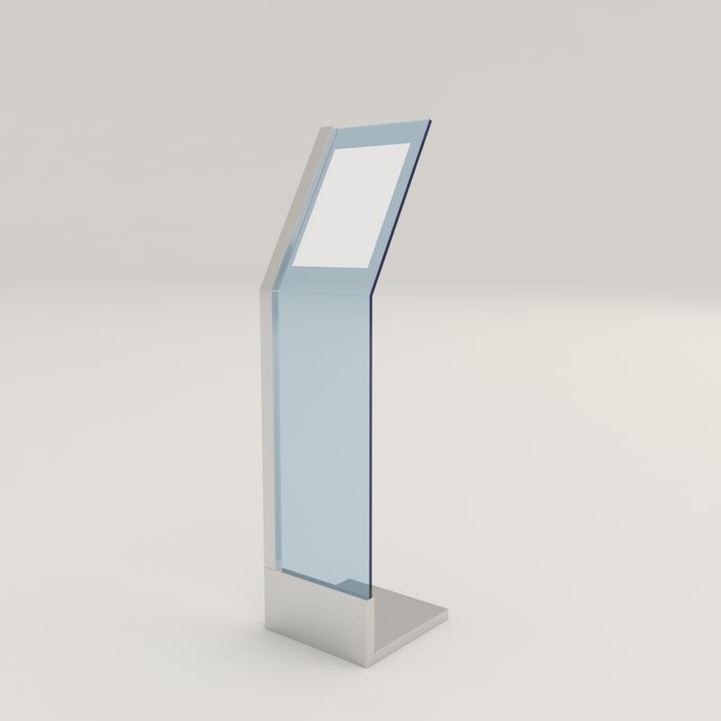 kiosk info 3D model