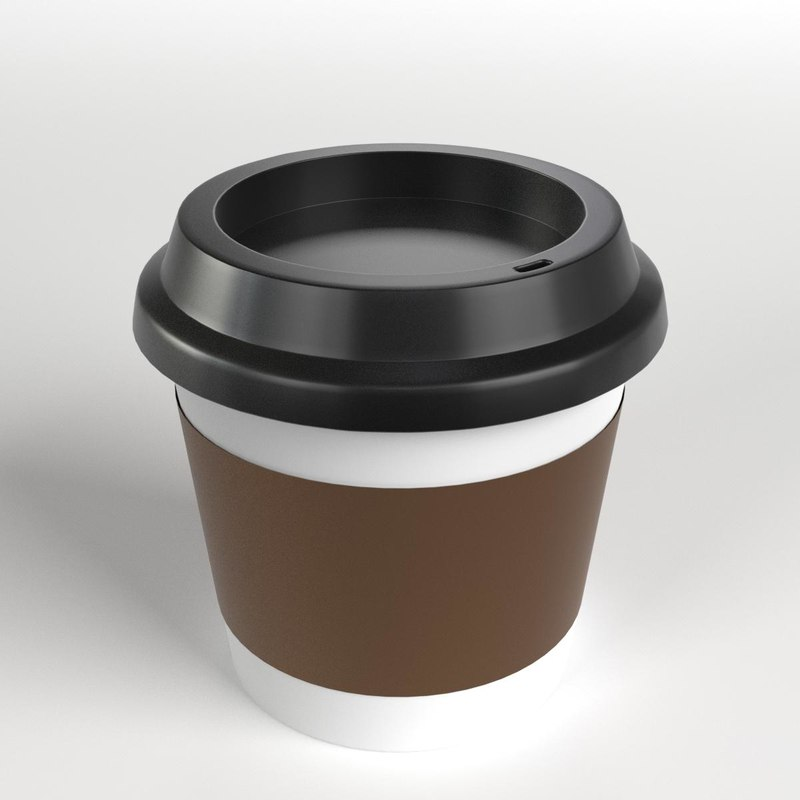 small coffee travel mug 3D