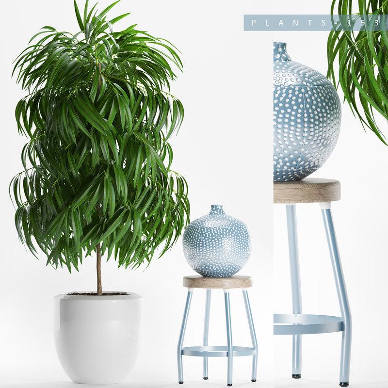 3D model plants set 153