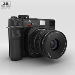 3D mamiya 7 ii model
