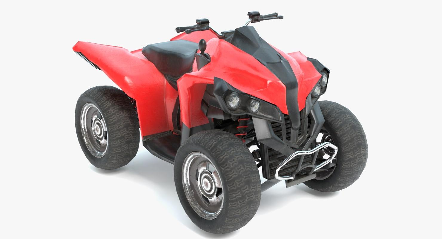 3D model real-time 4-wheeler