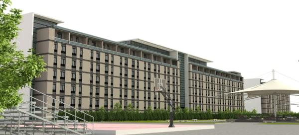 3D building school exterior