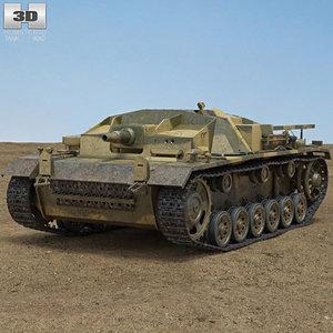 3D model stug iii ii