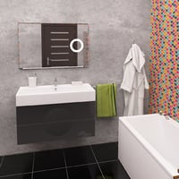 bathroom furniture moon graphite 3D model