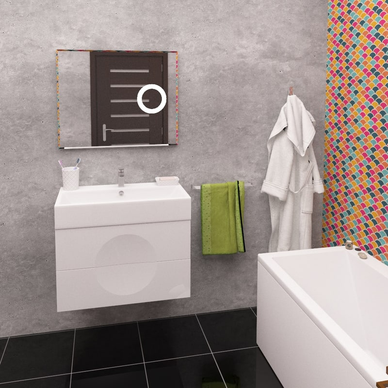 bathroom furniture moon 3D