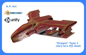 3D space ship dragon type