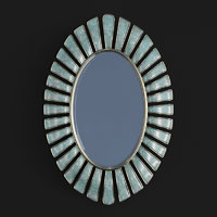 uttermost morvoren blue-gray oval 3D model