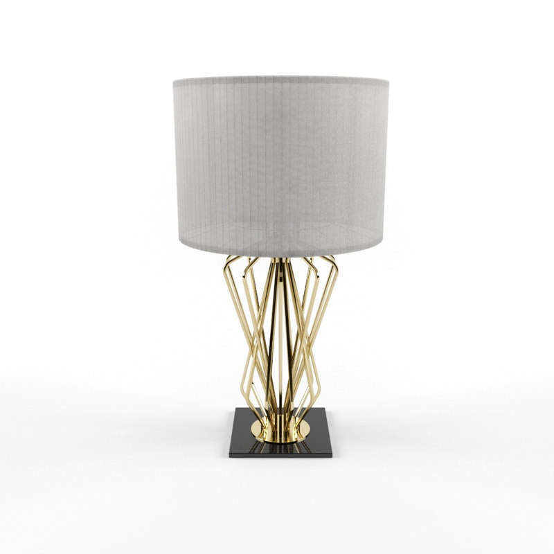 3D table lamp saba