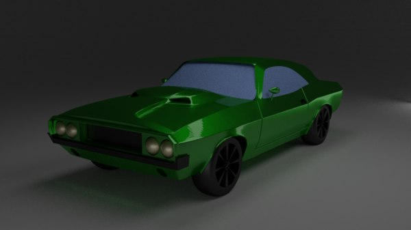 3D model dodge challenger 1970