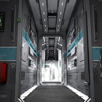 3D interior small starship