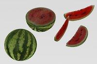 3D model watermelon