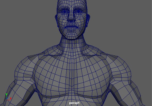 3D complete body man human