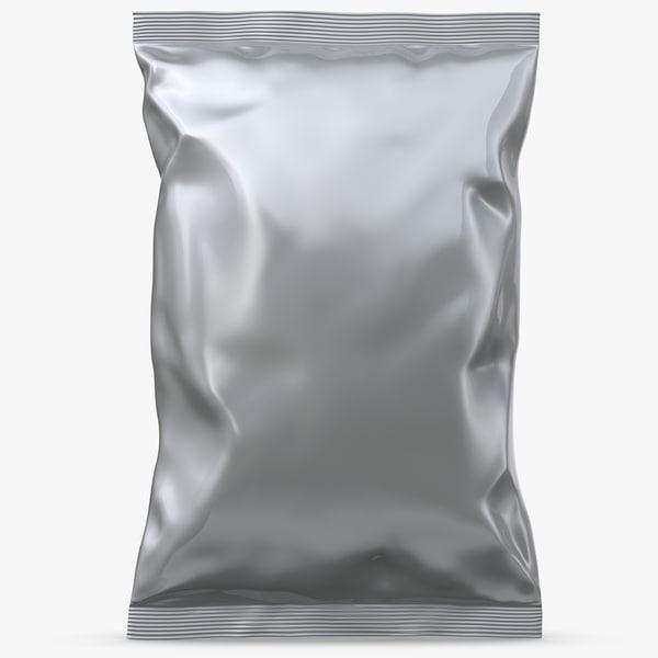 3D food potato chip bag