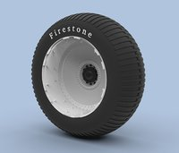 wheel bigfoot 3D