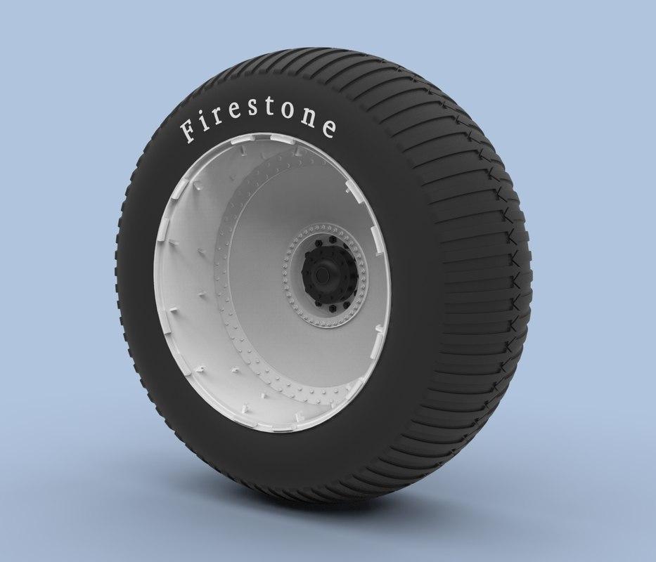 wheel bigfoot 3D