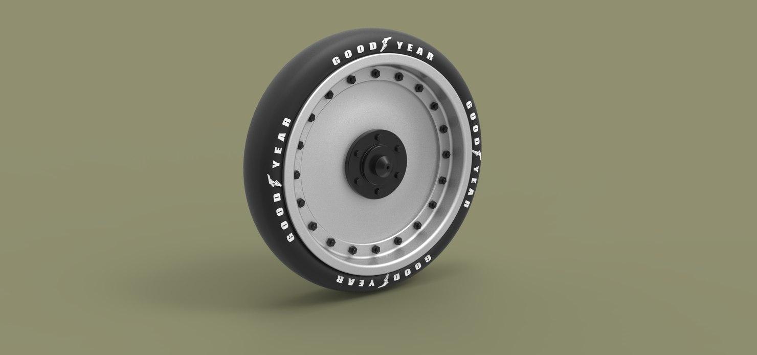wheel record jet 3D model