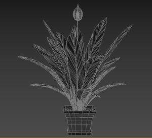 3D model flower interior design