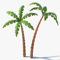 3D model knotty cartoon palm