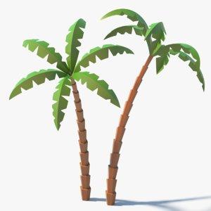 3D model knotty cartoon palm