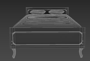 bed old style 3D model