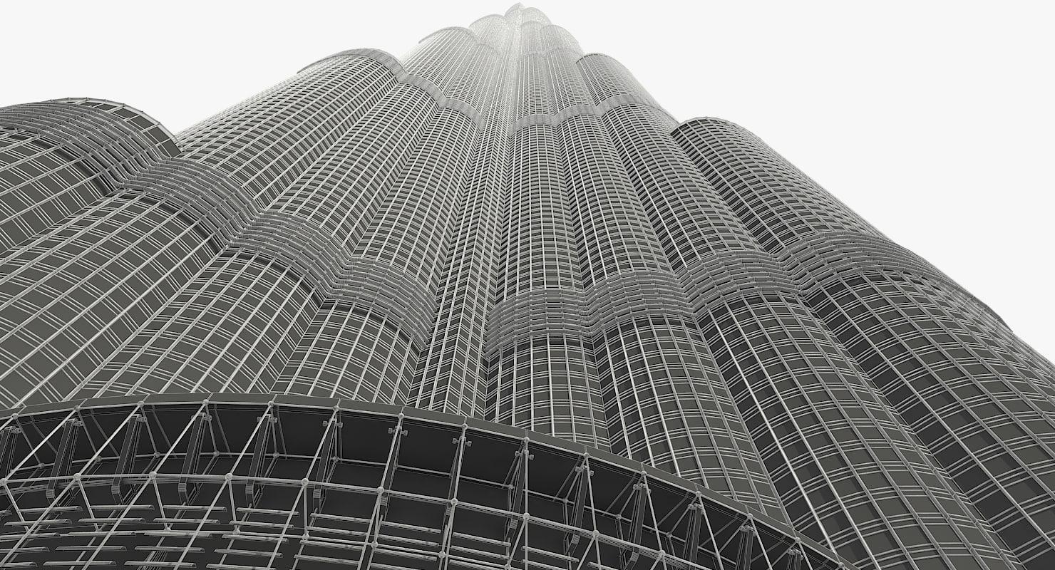3D burj khalifa skyscraper