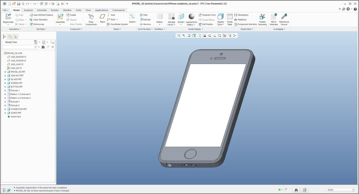 phone se - 3D model