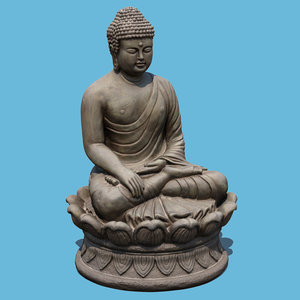 buddha art 3D model